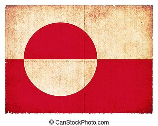 Grunge flag of Greenland (Danish Territory)