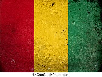 Grunge Flag of Guinea