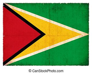Grunge flag of Guyana