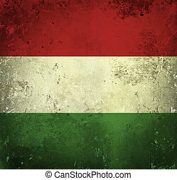Grunge flag of Hungary