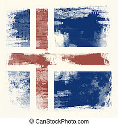 Grunge flag of Iceland - National Flag of Iceland created in...