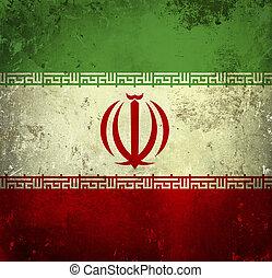 Grunge flag of Iran