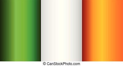 Grunge flag of Ireland