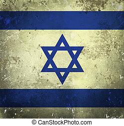 Grunge flag of Israel