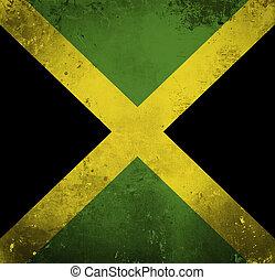 Grunge flag of Jamaica