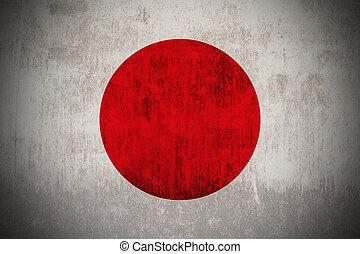 Grunge Flag Of Japan