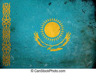 Grunge Flag of Kazakhstan
