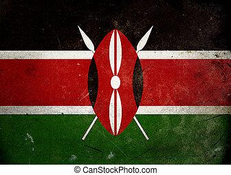 Grunge Flag of Kenya