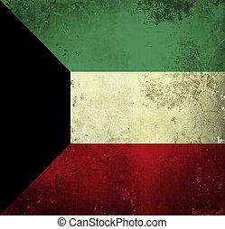 Grunge flag of Kuwait