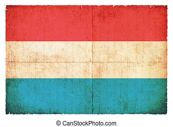 Grunge flag of Luxembourg