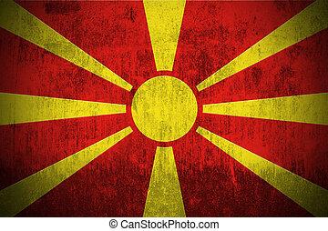 Grunge Flag Of Macedonia