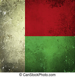 Grunge flag of Madagascar
