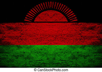 Grunge flag of Malawi - The flag of Malawi was officially...