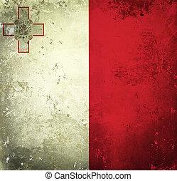 Grunge flag of Malta