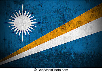 Grunge Flag Of Marshall Islands