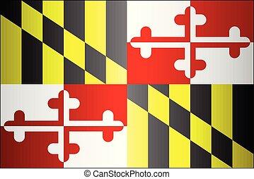Grunge flag of Maryland