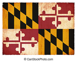 Grunge flag of Maryland (USA)
