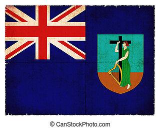 Grunge flag of Monserrat (British overseas territory)