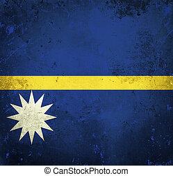 Grunge flag of Nauru