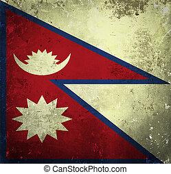 Grunge flag of Nepal