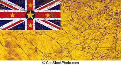Grunge flag of Niue