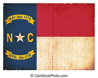 Grunge flag of North Carolina (USA)