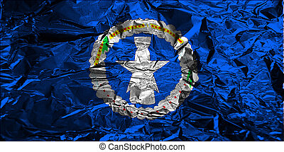 Grunge flag of Northern Mariana Islands