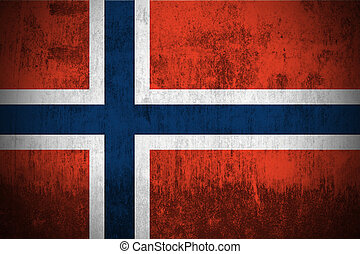 grunge flag of Norway - weathered flag of Norway, paper...