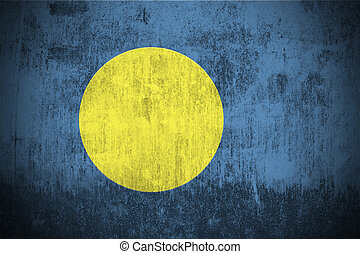 Grunge Flag Of Palau