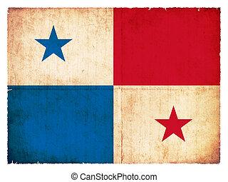 Grunge flag of Panama