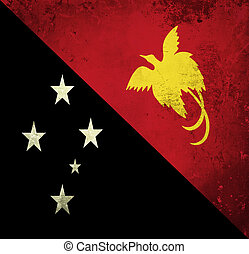 Grunge flag of Papua New Guinea
