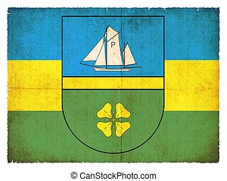 Grunge flag of Poel (Mecklenburg-Vorpommern, Germany) - Flag...