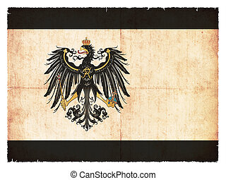 Grunge flag of Prussia (historic, 1892-1918)