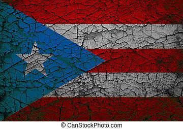 Grunge flag of Puerto Rico