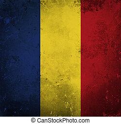 Grunge flag of Romania