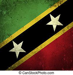 Grunge flag of Saint Kitts and Nevis