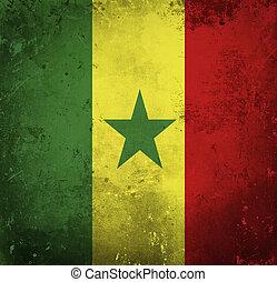 Grunge flag of Senegal