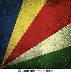 Grunge flag of Seychelles
