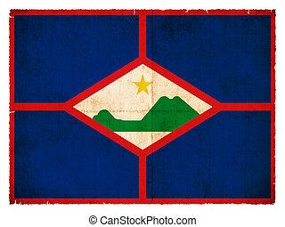 Grunge flag of Sint Eustatius (Netherlands)