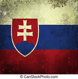 Grunge flag of Slovakia
