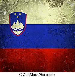 Grunge flag of Slovenia