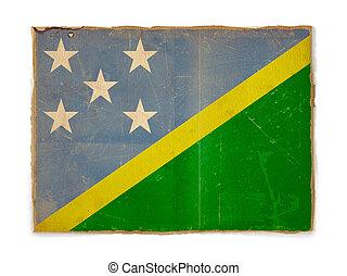 grunge flag of Solomon islands