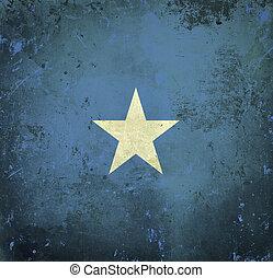 Grunge flag of Somalia