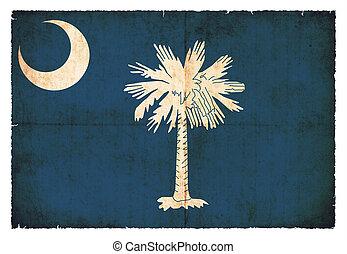 Grunge flag of South Carolina (USA)