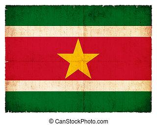Grunge flag of Surinam (Netherlands)