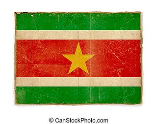grunge flag of Suriname