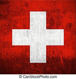 Grunge Flag Of Switzerland - Weathered Flag Of Switzerland, ...