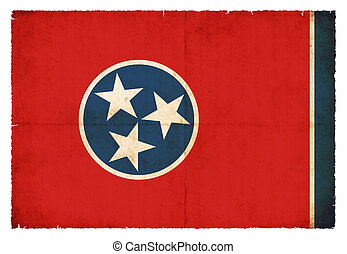 Grunge flag of Tennessee (USA)