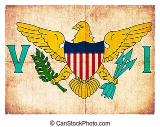 Grunge flag of the American Virgin Islands