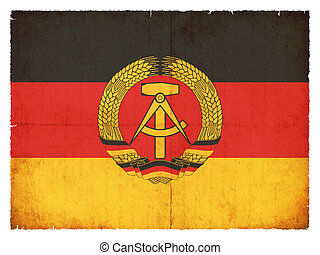 Grunge flag of the German Democratic Republic (DDR) -...